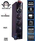 ELECTROSAC 4.25 HiFi Dj 500wTower Speaker 25000w PMPO Multimedia Speaker System Home Theater Bleutooth,Aux,USB