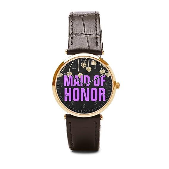 Un ejército Chic dama de honor brillante piel reloj pines (morado) barato Relojes de pulsera. Gris pretty comprar Reloj de pulsera en línea: Amazon.es: ...