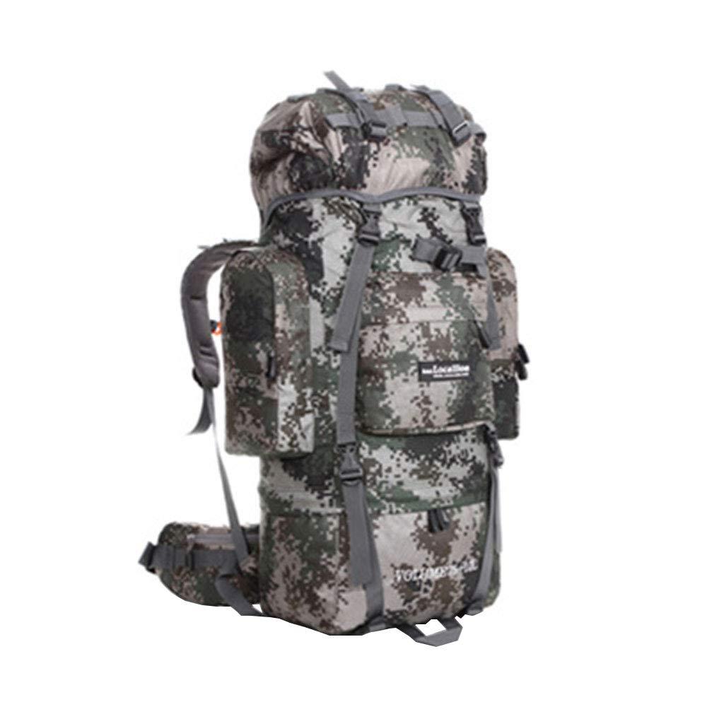 アウトドア登山バッグ ハイキングバッグ スポーツ防水バックパック 男女兼用 80L 大容量  迷彩 B07J1V4215