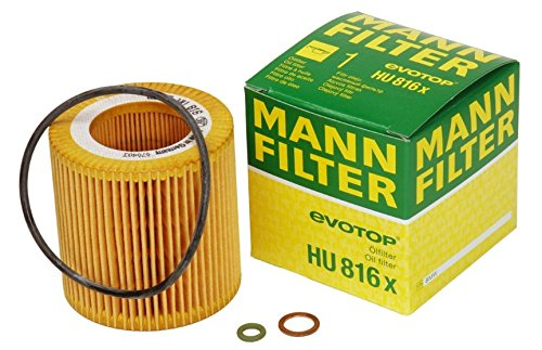 Mann-Filter HU 816 X Metal-Free Oil Filter (Pack of 2) (Mann Oil Filter Hu816x compare prices)