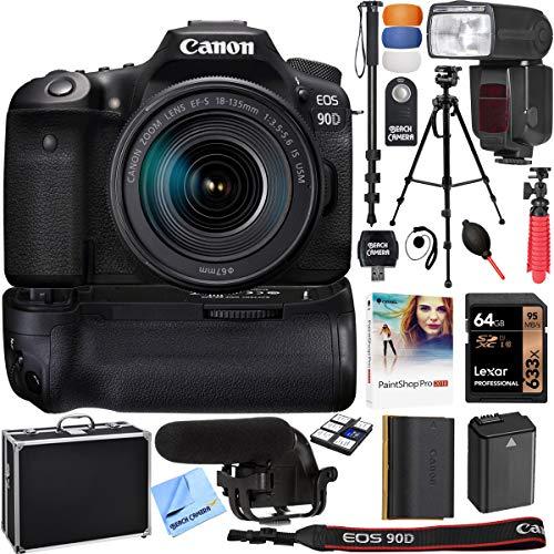 Canon EOS 90D 32.5MP CMOS Digital SLR Camera w/EF-S 18-135mm is USM Lens & More Bundle
