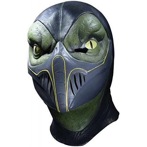 Reptile Overhead Mask Costume Mask Adult Mortal Kombat Halloween (Women Of Mortal Kombat)
