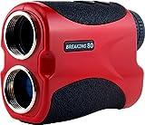 Breaking 80 Golf Rangefinder - Perfect Golf Accessory. Laser Rangefinder with 550 Yard Max Range (Red, 500 YD (IS500))