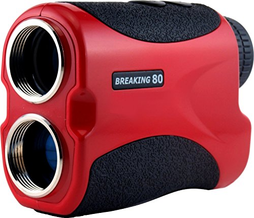 Breaking 80 Golf Rangefinder w/ Vibration Alert - Perfect Golf Accessory. The ONLY Laser Rangefinder with an Unlimited
