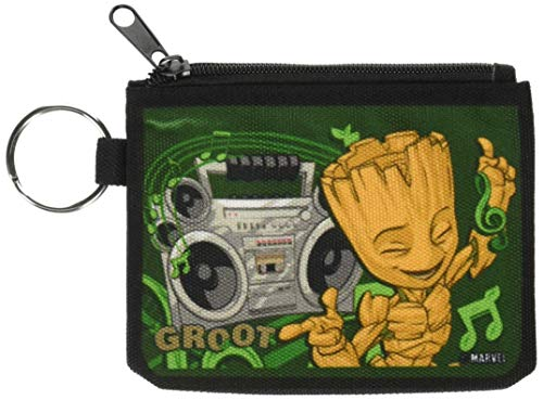 Buckle-Down Junior's Canvas Coin Purse Guardians of The Galaxy, Multicolor, 4.25