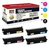 SNP Compatible Toner Brother TN431, TN433, TN436 Set of 1Black, 1Cyan, 1Magenta, 1Yellow Compatible-Brother HL-L8260CDW HL-L8360CDW HL-L8360CDWT MFC-L8610CDW MFC-L8900CDW HL-L9310CDW MFC-L9570CDW