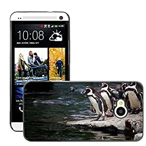 Print Motif Coque de protection Case Cover // M00126896 Animal Animales Antártida picos de aves // HTC One M7