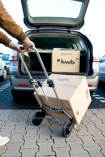 kwb Aluminium Transportkarre 786210 (klappbar, faltbare Sackkarre für bis zu 100 kg)