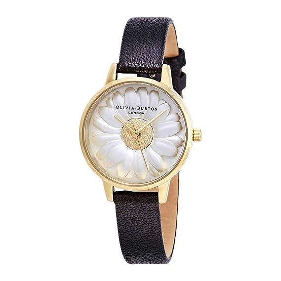 Olivia Burton Reloj Analógico para Mujer de Cuarzo con Correa en Cuero OB15EG38: Amazon.es: Relojes