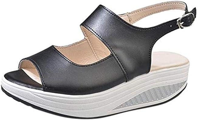 à Talons Compensées Femme Hauts Daim Chaussures Été Sandales wPTkuiXOZ