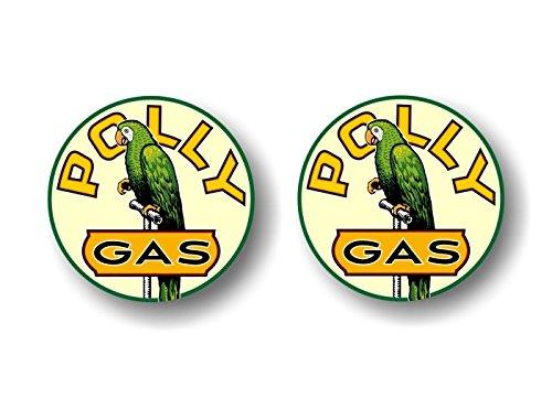 Pump Sign - 2 Vintage POLLY Gasoline Antique Gas Pump 4