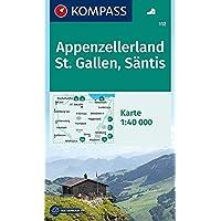 KOMPASS Wanderkarte Appenzellerland, St. Gallen, Säntis: Wanderkarte. GPS-genau. 1:40000: Wandelkaart 1:40 000 (KOMPASS-Wanderkarten, Band 112)