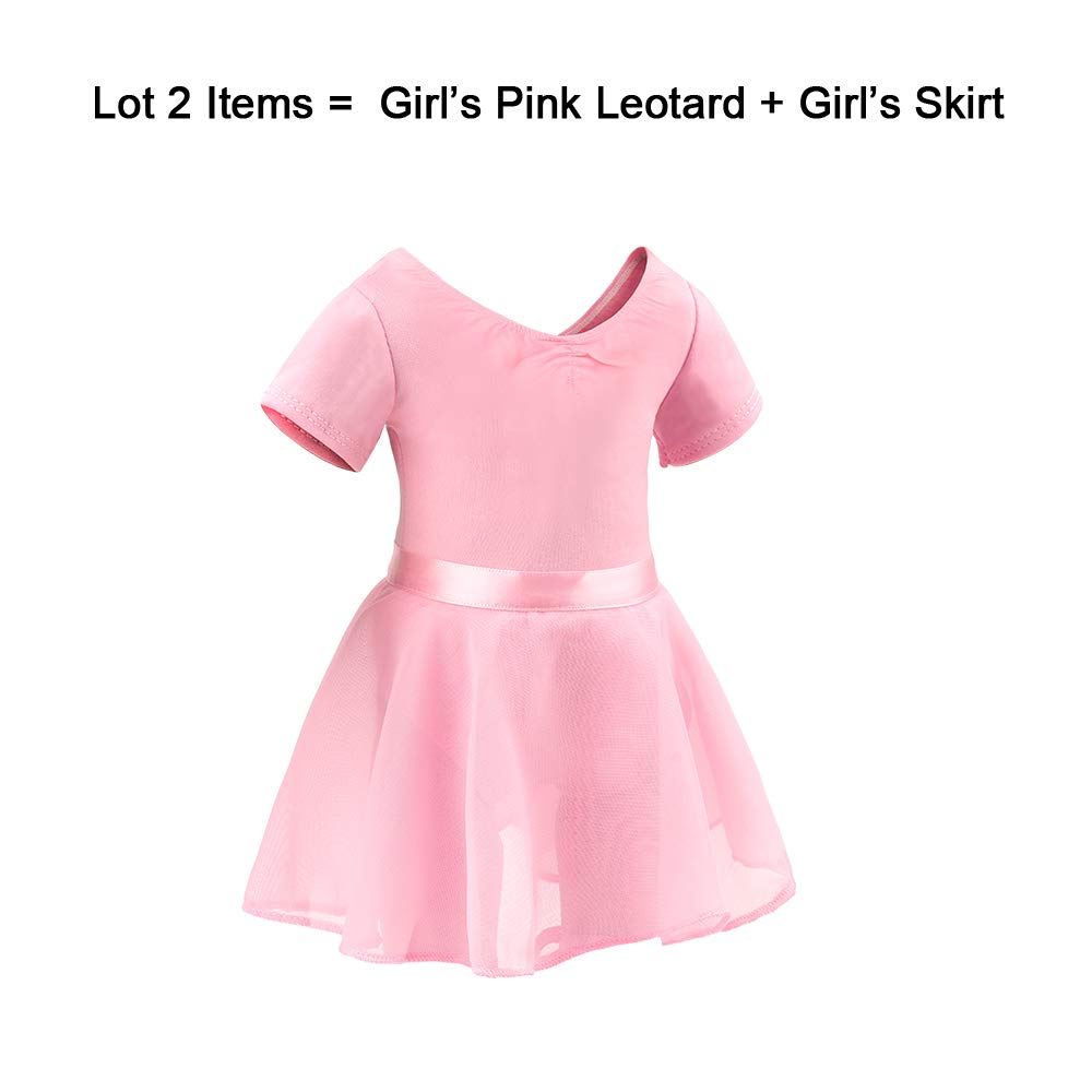 1b9be7f41b2 Amazon.com  BARWA Me Doll Matching Outfits Clothes 2 PCS Ballet Ballerina  Outfits Dance Dress Costume for Girls (120 cm)  Toys   Games