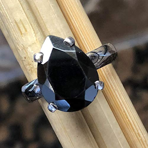 Natural Hematite 925 Solid Sterling Silver Ring Size 7