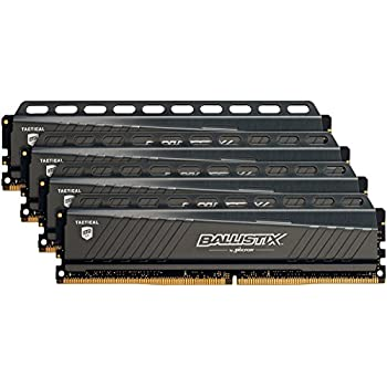 Ballistix Tactical 32GB Kit (8GBx4) DDR4 2666 MT/s (PC4-21300) DIMM 288-Pin Memory - BLT4K8G4D26AFTA