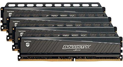 Ballistix Tactical 32GB Kit (8GBx4) DDR4 2666 MT/s (PC4-21300) DIMM 288-Pin Memory - BLT4K8G4D26AFTA