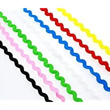 QianCraftKits RIC Rac Trim Ribbon for Apparel, Accessories, Decoration,and Other DIY Craft(190yard,7 Colors)