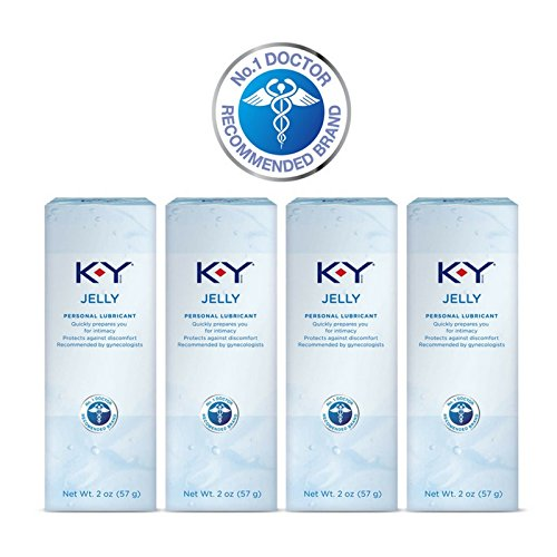 (K-Y Jelly Personal Lubricant 8 oz (4 Bottles x 2 oz), Premium Water Based Lube For Women, Men & Couples, Pack of 4)