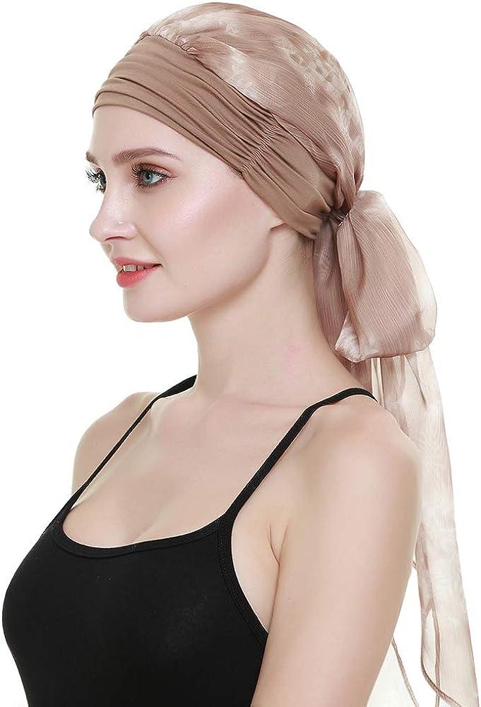 FocusCare Easy Wear para Mujer Cancer Chemo Gorros Bufandas Gorros ...