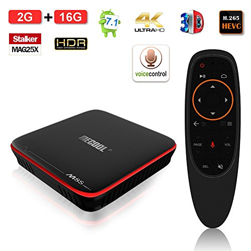 Edal M8S Pro W Voice Remote Control Android TV Box 2GB +16GB Android 7.1 DDR3 2.4G WiFi 4K Smart TV Box 64bit Quad-core ARM Cortex-A53 by Edal