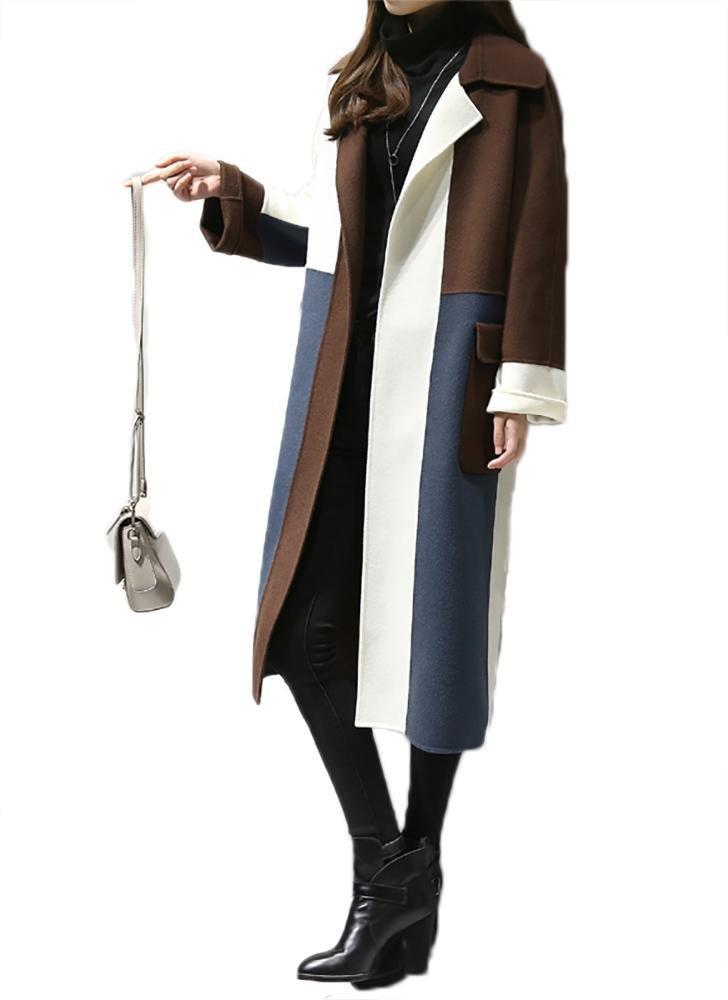 abrigos de invierno de las mujeres abrigo de damas señoras empalme prendas de vestir exteriores larg...