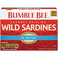Bumble Bee Wild Sardines, Water, Pack of 12, 3.75 Ounce