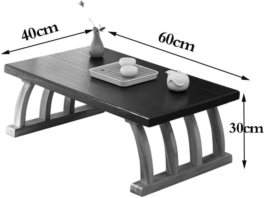 qazxsw Tables Basses Table carrée en Bois Tatami Table à thé Japonaise Salon Petite Table à Manger Maison Bureau Minimaliste Wood Color