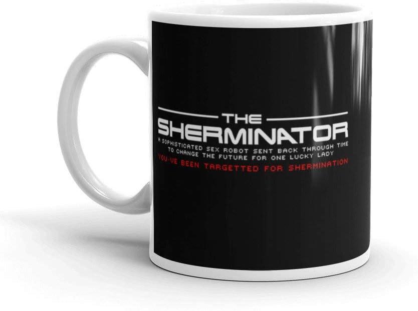 American Pie The Sherminator Youve been targeted for Shermination Movie Mug Jarra Taza: Amazon.es: Hogar