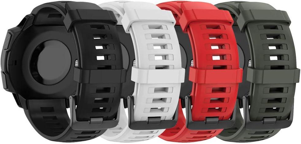 NotoCity Correa para Garmin Instinct, Banda de Reemplazo de Silicona, Correa de Reloj Compatible con Garmin Instinct, Colores múltiples