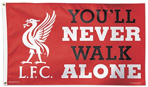 WinCraft Liverpool FC You'll Never Walk Alone Deluxe Flag 3 x 5 - Flag Liverpool