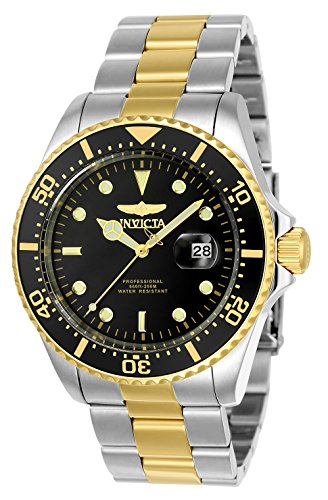 Invicta Men's Pro Diver Quartz Diving Watch with Stainless-Steel Strap, Two Tone, 22 (Model: 23229)