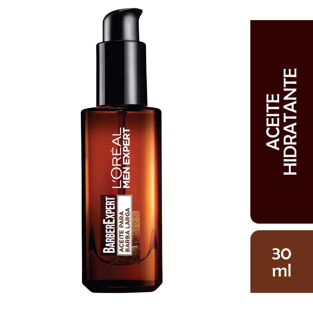 LOréal Paris Men Expert Barber Club Aceite Hidratante para Barba Larga y Rostro, 30 ml