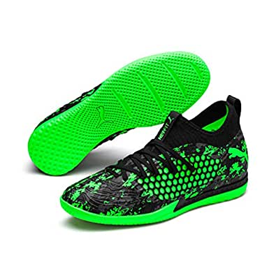 PUMA Men's Future 19.3 Netfit IT Football Boots, Puma Black-Charcoal Gray-Green, 10 US