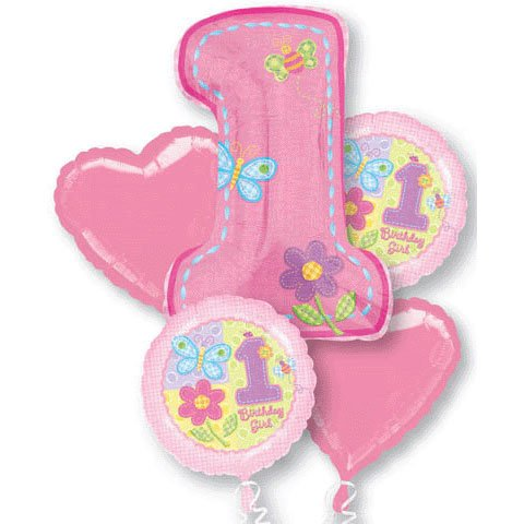 Amazon Hugs And Stitches Girl 1st Birthday Balloon Bouquet Kitchen Dining