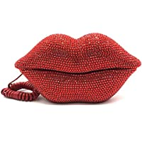 EPLAZA Red Sexy Lips Mouth Fixed Land Line Telephone Shining Desk Wired Corded Phone Home Office Decoration