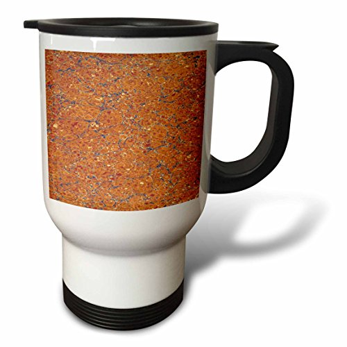 3dRose TDSwhite – Patterns Designs - Abstract Design Antique Marbleized Vintage - 14oz Stainless Steel Travel Mug (tm_281748_1) by 3dRose