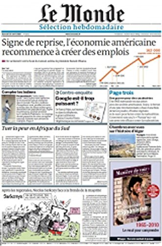 Magazines : Le Monde Selection Hebdomadaire