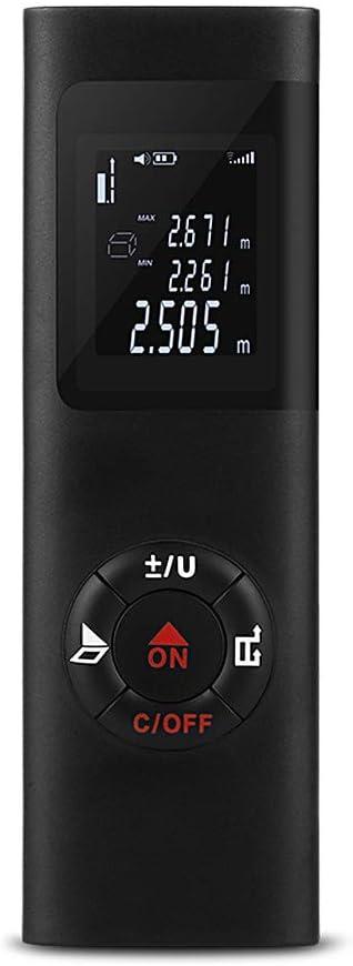 Medidor de distancia digital USB lá-ser,Roeam distancia metro telemetro Bolsillo portátil Alta precision 40M Para decoración, reparación