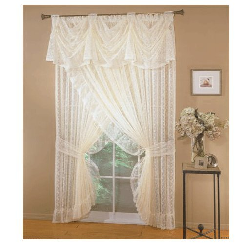 - Priscilla Lace Victory Valance : Color - IVORY