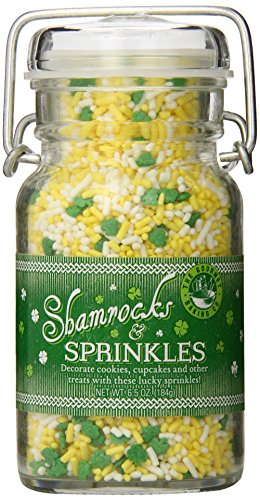 Shamrock Sprinkles - Pepper Creek Farms Shamrocks and Sprinkles, 5.8 Ounce
