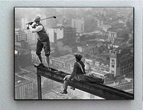 Rare Framed Vintage Skyscraper Golf Photo. Jumbo Giclée Print