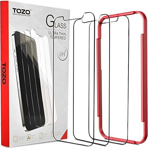 TOZO Compatible for iPhone 12 Pro Max Screen Protector 3 Pack Premium Tempered Glass 0.26mm 9H Hardness 2.5D Film Easy set up 6.7 inch