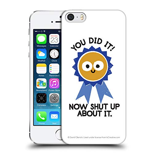 - Official David Olenick Boast Likely to Suceed Medal Objects Hard Back Case for iPhone 5 iPhone 5s iPhone SE
