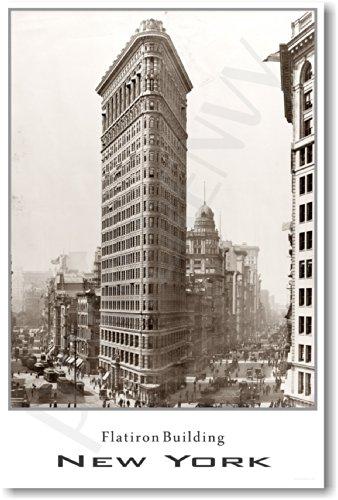 Flatiron Building - New York City 1910 - NEW Vintage Travel Poster ()