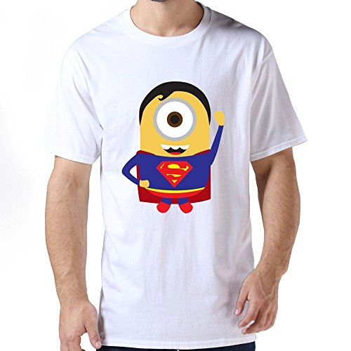 ZHUYOUDAO Men's Superman Despicable Me Minions Banana 100% Cotton T-Shirt