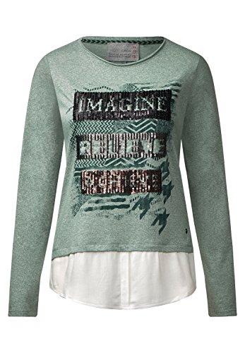 CECIL 2in1 Shirt mit Pailetten loden frost green