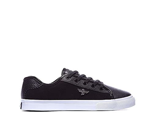 0ef2f7cec3b Creative Recreation Unisex Black/White Suede Youth Kaplan Trainers ...