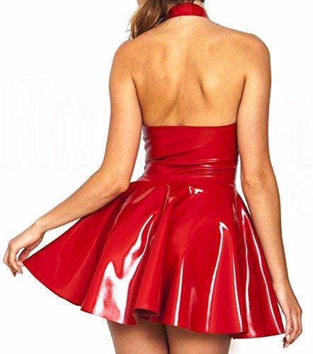 PVC Dresses Alivila Womens Y Red Halter Lingerie Fashion Dress Corset Sexy wwFX8Zx4q