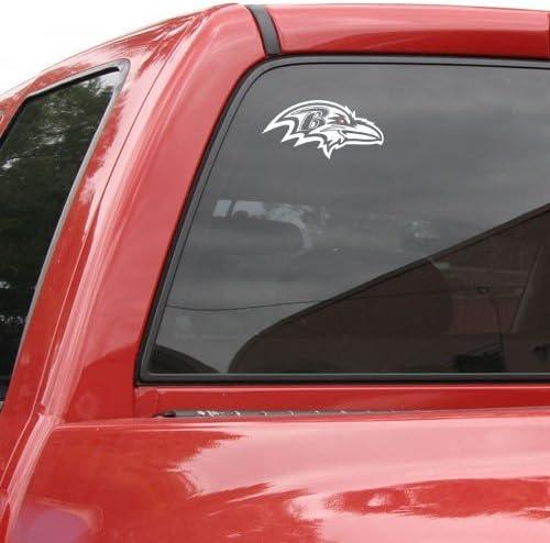 WinCraft NFL Baltimore Ravens 8x8 White Decal Logo