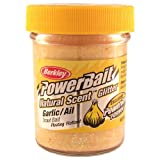 PowerBait FW Natural Garlic Scent Glitter Trout Fishing Bait (Yellow), Outdoor Stuffs